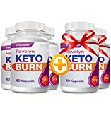 Revolyn Keto Burn - Pillola per Dimagrire in Modo Efficace | 5 flaconi...