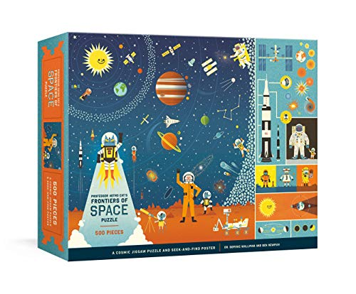 Professor Astro Cat's Frontiers of Space 500-Piece Puzzle: Cosmic Jigsaw Puzzle and Seek-and-Find Poster
