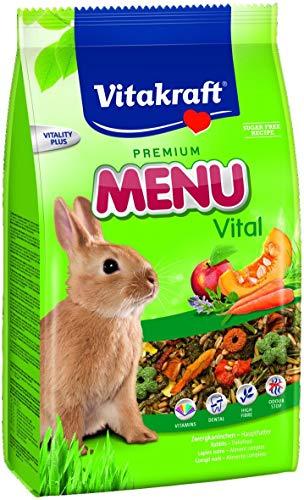 Vitakraft - Menú Premium Vital para Conejos con Cereales, Manzanas y Verduras - 1 kg