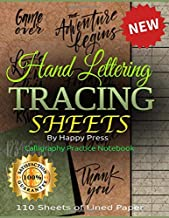 Hand Lettering Tracing Sheets: Calligraphy Practice Notebook, 110 Sheets of Lined Paper