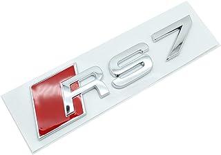 TRUSTTWO Auto 3D metalen stickers en stickers passen voor Audi RS3 RS4 RS5 RS6 RS7 RS8 S3 S4 S5 S6 S7 S8 A3 Auto achterste...