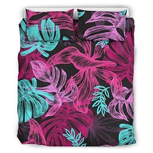 Ropa de cama Hojas Confort Ropa Estilo Europeo Color Oscuro Cama Doble Blanco 229x229cm