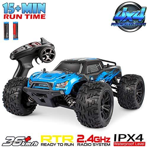 Hosim Ferngesteuertes Auto 1:16 Maßstab, RC Offroad Car 4WD, Elektronische Monstertruck, Outdoor Spielzeug Für Kinder Und Erwachsen (Blau) Modellnummer: G174
