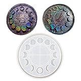 Estrella lunar reloj esfera cristal resina epoxi forma de la luna finitis lunar fases ornamentales placa de silicona molde DIY herramienta DIY