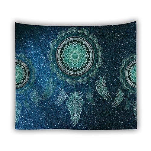 Wandteppich Psychedelic Blau Wandteppich Traumfänger Tapisserie Sterne Hausdekor Bohemian Deko Tuch Wandtuch Wandbehang 150X130cm