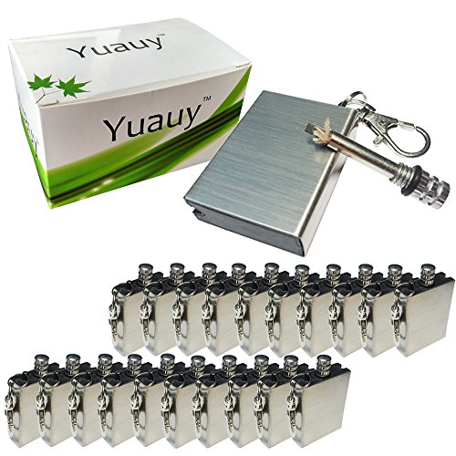 Best Review Of Yuauy 20 Pcs Hiking Emergency Survival Camping Fire Starter Flint Metal Match Lighter