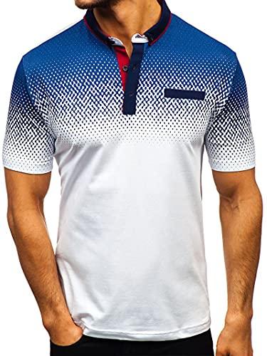Camisa Polo Hombre Deporte De Negocios Casual Camisa...