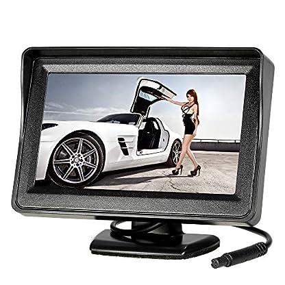 KKmoon-Auto-Rueckfahrkamera-Einparkhilfe-mit-43-Zoll-TFT-LCD-Monitor-170-Weitwinkel-IP6768-wasserdichte-Kamera-Nachtsicht-fuer-Auto-Bus-Schulbus-Anhaenger