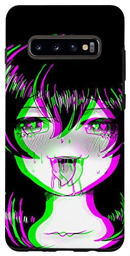 Galaxy S10+ Ahegao Face Waifu Neko Anime Cat Girl Vaporwave Hentai Case