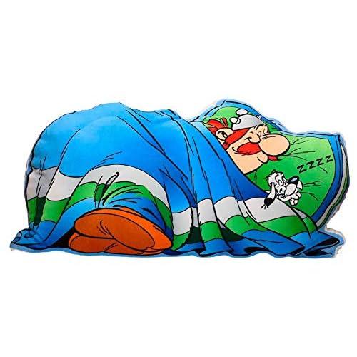 SD Toys Dormido Cuscino Forma Obelix, Acrilico, Blu, 73 x 34 x 14 cm