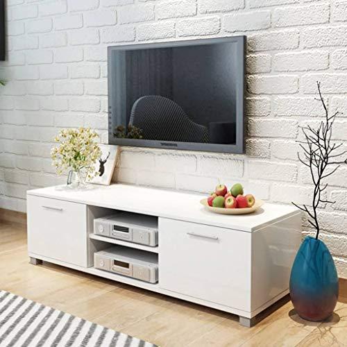 FAMIROSA Aparador para TV Blanco con Brillo 120x40,3x34,7 cm