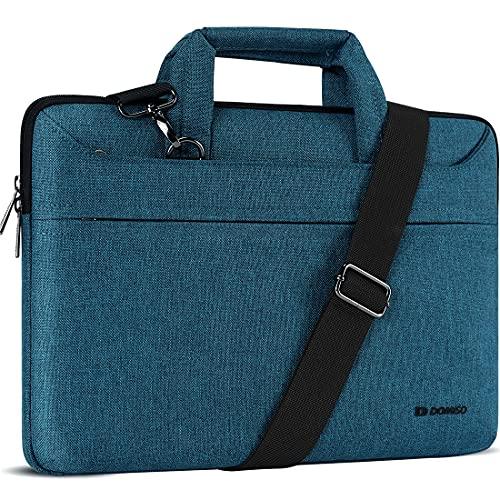 DOMISO 17 inch Laptop Sleeve Shoulder Bag Water-Resistant Messenger Bag Business Briefcase for 17.3'Notebooks/17.3' Dell Inspiron/MSI GS73VR Stealth Pro/Lenovo IdeaPad/HP Envy/LG Gram/ASUS ROG,Teal