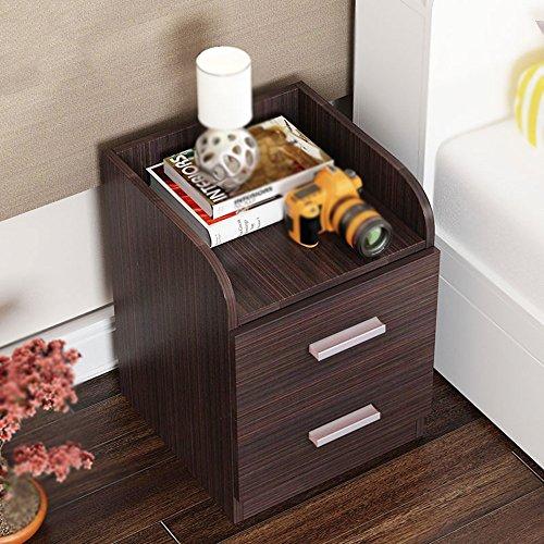 Tables FEI Chevet Nightstand Cabinet Wenge Meubles de Chambre Chest Tiroir Rangement Étagère (Couleur : Noir)