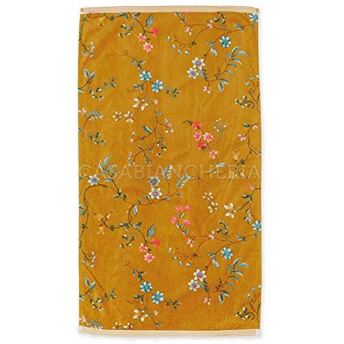PIP Studio Par de toallas de rizo Les Fleurs-amarillo