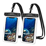 UNBREAKcable Smartphone Waterproof Case [Pack of 2] IPX8 Waterproof Case for Phone iPhone 11, 11 Pro, XS Max, XR, XS, X, 7 8 Plus, 6S, Galaxy A51 S9 / S10 Plus, Huawei P30 Pro / Lite, Up to to 6.6 Inches
