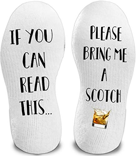 If You Can Read This Bring Me A Scotch Funny Novelty Funky Crew Socks Men Women Christmas Gifts Slipper Socks