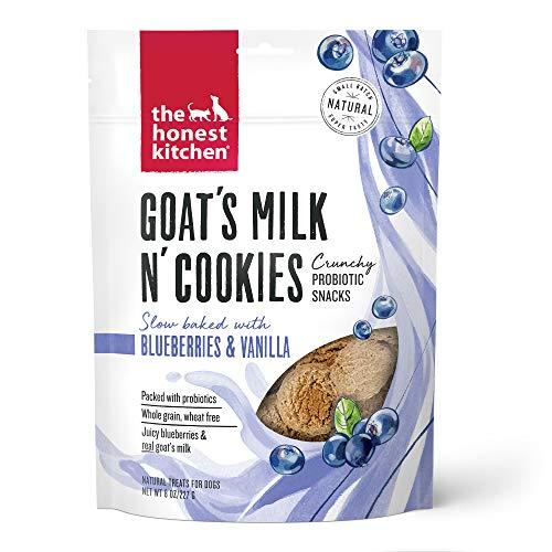The Honest Kitchen Goat's Milk N' Cookies Crunchy Probiotic Snacks - Goat's Milk, Blueberries & Vanilla, 8 oz. Bag