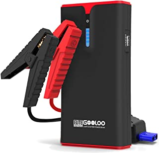 GOOLOO 1500A Peak SuperSafe Car Jump Starter (Up to 8.0L Gas or 6.0L Diesel Engine) with USB Quick Charge, In&Out Type-C,12V Portable Power Pack Auto Battery Booster Phone Charger Built-in LED Light