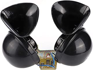 Car Horn Loud, Styling Accessory 24V Car Horn Universal Black Electric Snail Horn for Car Truck Boat