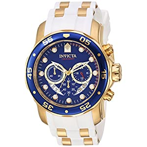 Invicta Men's Pro Diver Quartz Watch with Stainless-Steel Strap, Gold, 26 (Model: 20288)