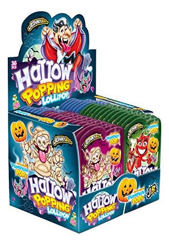 Halloween Popping Lollipop – Lollipop Hard Candy met Pops om te dippen – 36 tellen x 13 gram