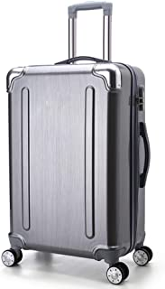 TYUIO Carry-On Luggage/Lightweight Polycarbonate Hardshell/Spinner/TSA Approved/Cabin Size (Color : Silver, Size : 20)