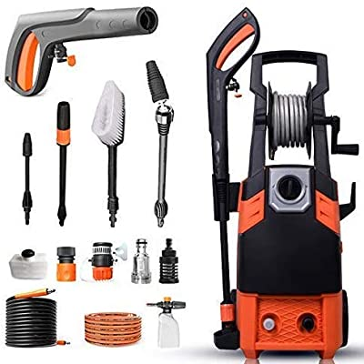Indoor and Outdoor Cleaning Tools Mop Garden 1800W Pressure Washer with Accessories Ndash; Outdoor Home/Patio Car Cleaner - 100Bar-140Bar Working Pressure, Ipx5 Waterproofing System. dljyy by dljxx