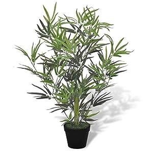 vidaXL Artificial Bamboo Tree w/Pot 31″ Plant Potted Home Decor Patio Fake