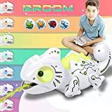 BROOM RC Chameleon Toy, 2020 New Updated Toys for Kids Age 6 Years Up, Multi Colored Lights & Extendable Tongue & Animated Eyes and Tail, 2.4Ghz Electric(Batteries and Screwdriver Included)