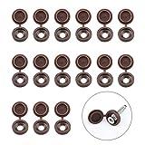 INCREWAY Tapas de rosca, 100 tapas de plástico marrón con bisagras plegables y arandelas de goma...