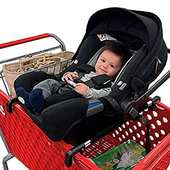Totes Babies - Car Seat Carrier for Shopping Carts Allows Babies Newborns Infants and Toddlers to Stay Snug or Sleeping in Car Seat While Parents Shop As Seen on Shark Tank