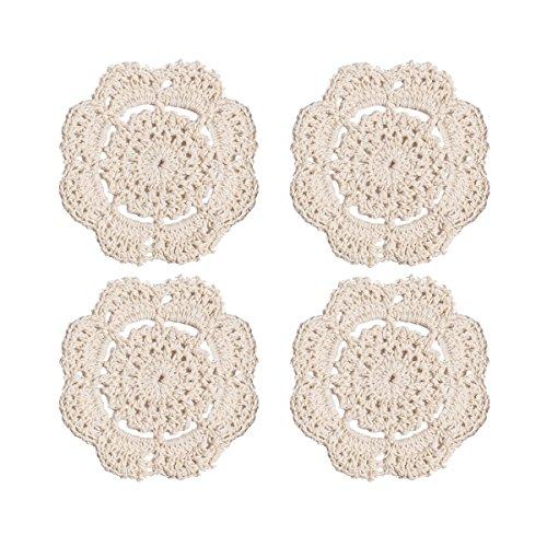 Phantomon Doilies Crochet Cotton Lace Round Handmade Coasters Small Doilies...