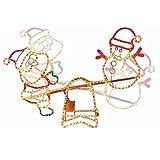クリスマス 屋外用 3Dイルミネーション ガーデンモチーフ ムービングシーソー
