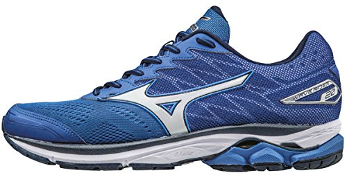 Mizuno Wave Rider 20, Zapatillas de Running para Hombre, Azul (Nautical Blue/White/Dress Blues), 44.5 EU