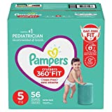 Pampers Diapers Pull On Cruisers 360° Fit Disposable Baby Diapers with Stretchy Waistband Super Pack (Packaging May Vary), Size 5, 56 Count