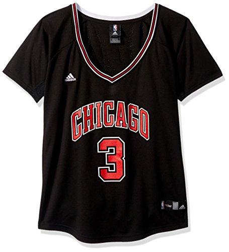NBA Women's Chicago Bulls Dwayne Wade Replica Player Road Jersey, Medium, Black