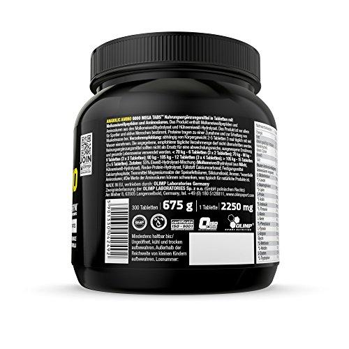 Olimp Anabolic Amino 9000 Mega Tabs , 300 Tabletten, 1er Pack (1 x 675 g Dose) - 4