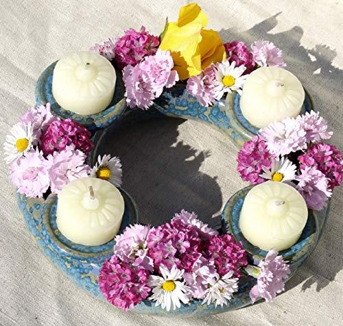 Blumenring Kerzenhalter Adventskranz Deko Geschenk
