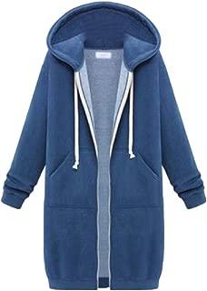 Womens Sweatshirt Hoodie Outerwear Jacket Casual Zip up Hoodies Pockets Tunic Pullover