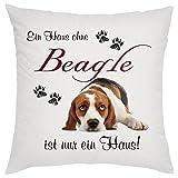 Crealuxe EIN Haus ohne Beagle ist nur EIN Haus Zierkissen, Sofakissen, bedrucktes Kissen,...