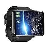 HAZZLER 2.86' Upgraded DM100 LEM T Big Screen 4G Smartwatch with Android 7.1, 8MP Camera 2880 mAh Battery. GPS Fitness & Face Unlock. 3GB RAM + 32 GB Storage (Black)