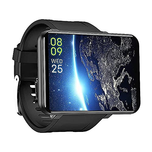 "HAZZLER 2.86"" Upgraded DM100 LEM T Big Screen 4G Smartwatch with Android 7.1, 8MP Camera 2880 mAh Battery. GPS Fitness & Face Unlock. 3GB RAM + 32 GB Storage (Black)"