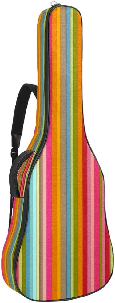 Floral Striped 引出物 Acoustic 即日出荷 Guitar Bag Cover with Strap Shoulder -