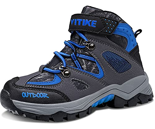 Botas de Senderismo Zapatos de Algodón Botas para la Nieve Botas de Invierno para Unisex Niños, 35 EU, 1 Azul