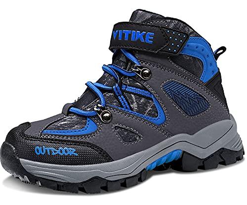 Elaphurus Kids Climbing Boot Hiking Shoes Waterproof Anti-Slip Walking Flat...