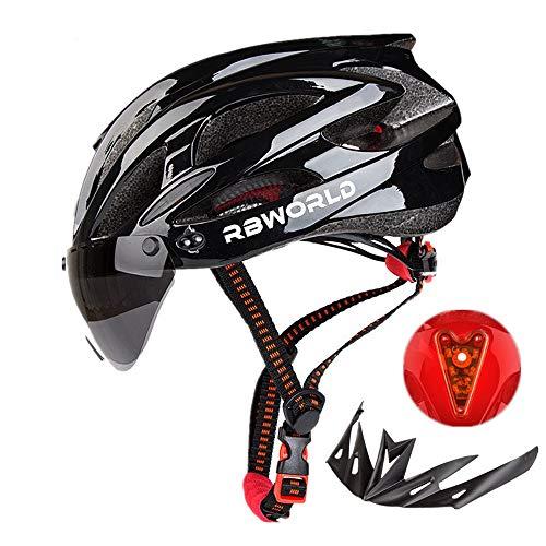 Erwachsene Active Fahrradhelm,Fahrradhelm Herren Damen Kinder,Fahrradhelm MTB,Leichter MTB City Bike Helm mit Schnellverschluss LED Rücklicht Radhelm,Verstellbar Radhelm
