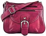 Purse King Pistol CCW Concealed Carry Handbag Conceal Crossbody & Shoulder Bag (Burgundy)