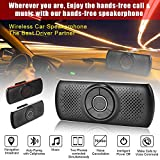 Airymap Kit Mains Libres Bluetooth 4.2 Portable Voiture,kit-voiture mains libres bluetooth pour pare-soleil,Supporte Siri et Google Assistant
