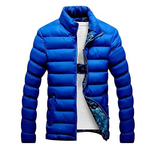 Warme Herrenjacke, lässig, schmal, Mäntel Gr. XXL, blau