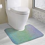 N/B Alfombra de baño de espuma suave con diseño escamoso del dragón de hadas personalizada, alfombrilla de baño, lavable, 19 pulgadas x 16 pulgadas